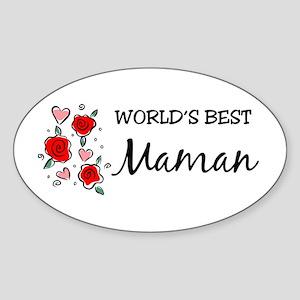 WB Mom [Persian] Oval Sticker